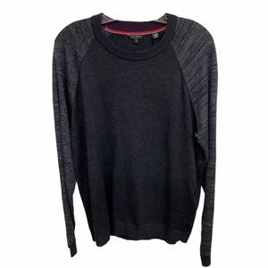 TED BAKER Gray Long Sleeve Crew Neck Sweater 3XL